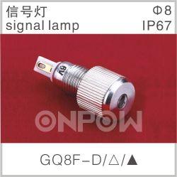 Indicador de metal impermeável Onpow com lâmpada de sinal de 8 mm (A GQ8-D)