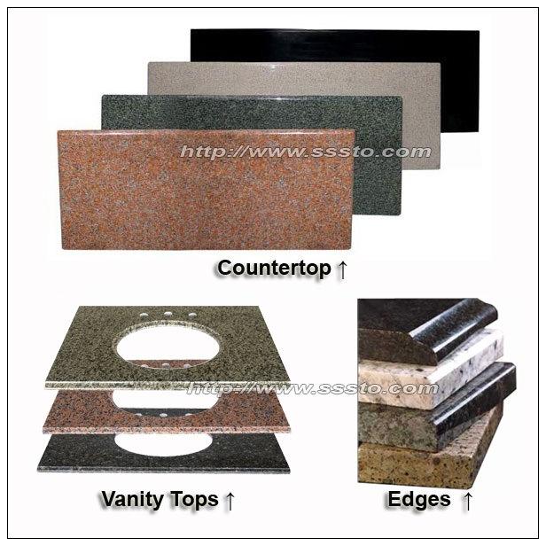 Granite & Marble Countertop/Vanity Top for Kitchen or Bathroom