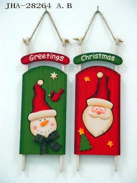 Christmas Wood Decoration (JHA-28264AB)