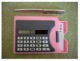 Le titulaire de carte avec la calculatrice (JT529)