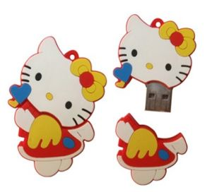 Custom USB Flash Drive - Red Hello Kitty