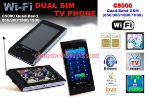 Mobile Phone C5000: WiFi + Analog TV + Quadband