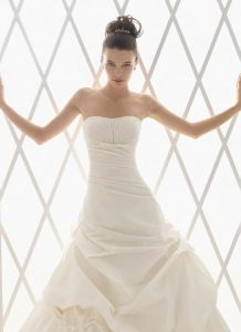 White/Ivory Wedding Dress Custom Size (LB2869)