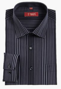 China Factory OEM Men′s Cotton Black Stripe Long Sleeve Shirts pictures & photos