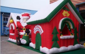 Large Funny Outdoor Inflatable Christmas Decorations House Bouncy House Bouncer Bouncy Castle Jumper Jumping Castle pictures & photos