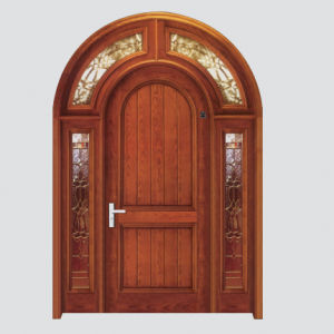Arch Shape Entrance Wooden Door (TY-8101)