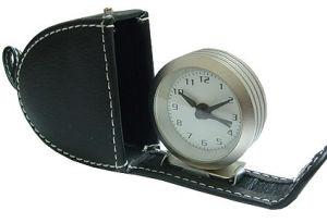 Horloge d'alarme en cuir de voyage (KV3028B)